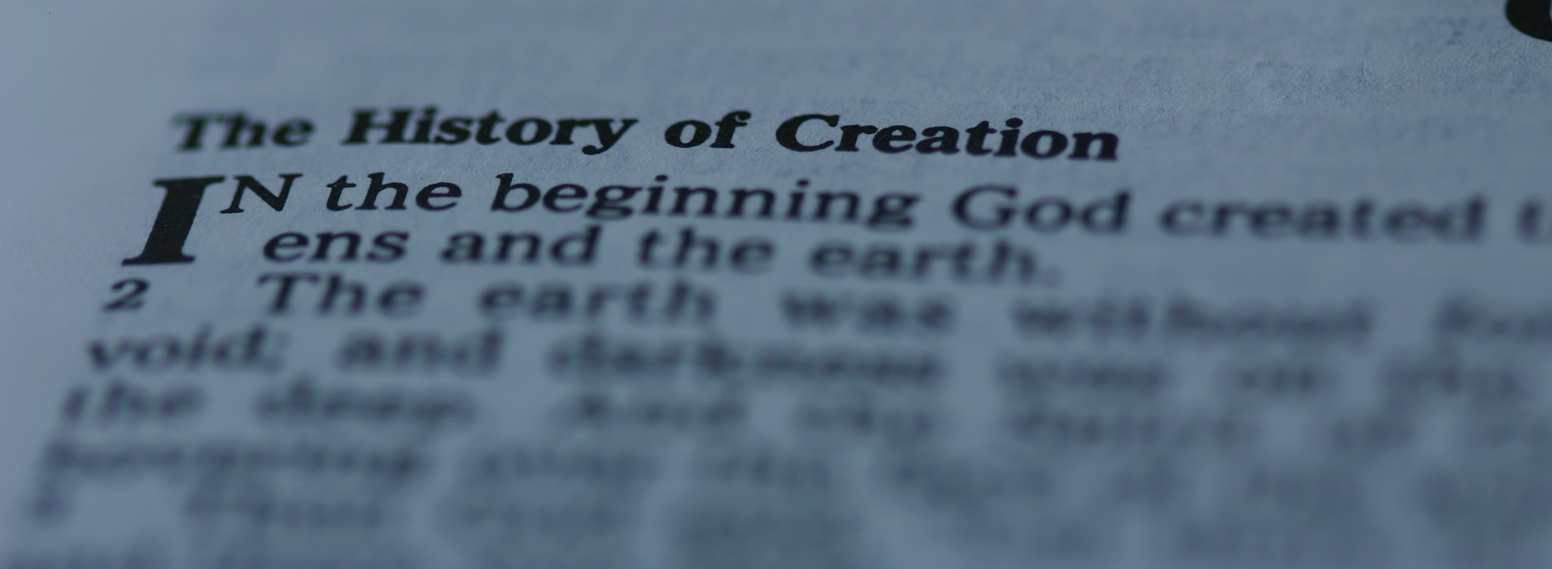 Genesis 1-1 in Bible (Christianphotos.net)