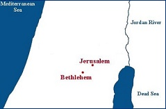 Map Jerusalem - Bethlehem (WM- PD) small