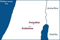 Map Jerusalem - Bethlehem (WM- PD) small