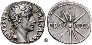 Coin of Augustus Caesar (c 19 B.C.) (***)
